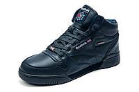 Зимние кроссовки Reebok Classic, на меху, мужские, темно-синие, р. 41 42 43 44 45 46