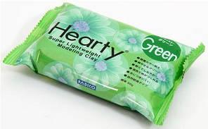 Пластика холодный фарфор Padico Hearty (Япония)самозатвердевающая для цветов,декора,зеленая, 50 г