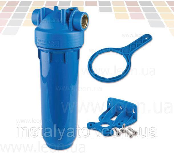 Колба проточного фильтра Atlas Filtri DP MONO AB OT, синий стакан, для картриджей SX и BX