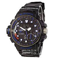 Электронные часы Casio G-Shock GWN-1000 Black-Blue, спортивные часы Джи Шок черный-синий