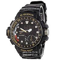 Электронные часы Casio G-Shock GWN-1000 Black-Gold, спортивные часы Джи Шок черный-золото