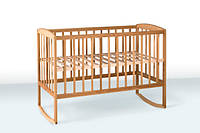 Деревянная кроватка-колыбель с дугами 1В25-2