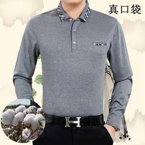 Мужская футболка с длинным рукавом на меху, фото 2