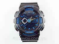 Часы G-Shock - Baby _G, синие с черным , глянец