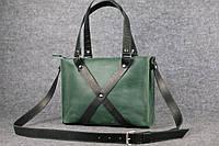 Женская кожаная сумка Крестик ХXL | Ручная работа, фото 1