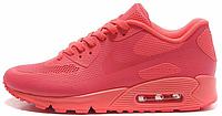 Женские кроссовки Nike Air Max 90 Hyperfuse (найк аир макс 90) коралловые