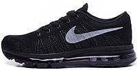 Женские кроссовки Nike Air Max Flyknit (найк аир макс флайнит) черные