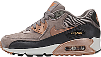"Женские кроссовки Nike Air Max 90 Leather ""Iron/Metallic Red Bronze/Dark Storm"" (найк аир макс 90)"