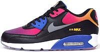 Женские кроссовки Nike Air Max 90 (Найк Аир Макс 90) черные