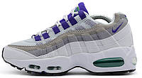 "Женские кроссовки Nike Air Max 95 ""Grape"" (найк аир макс 95) белые"