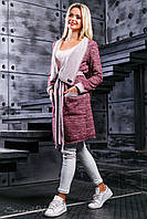 Женский бордовый кардиган 2388 Seventeen 42-52 размеры
