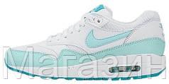 Женские кроссовки Nike Air Max 1 Найк Аир Макс 1 белые