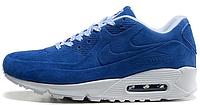 Женские кроссовки Nike Air Max 90 VT Tweed (найк аир макс 90) синие