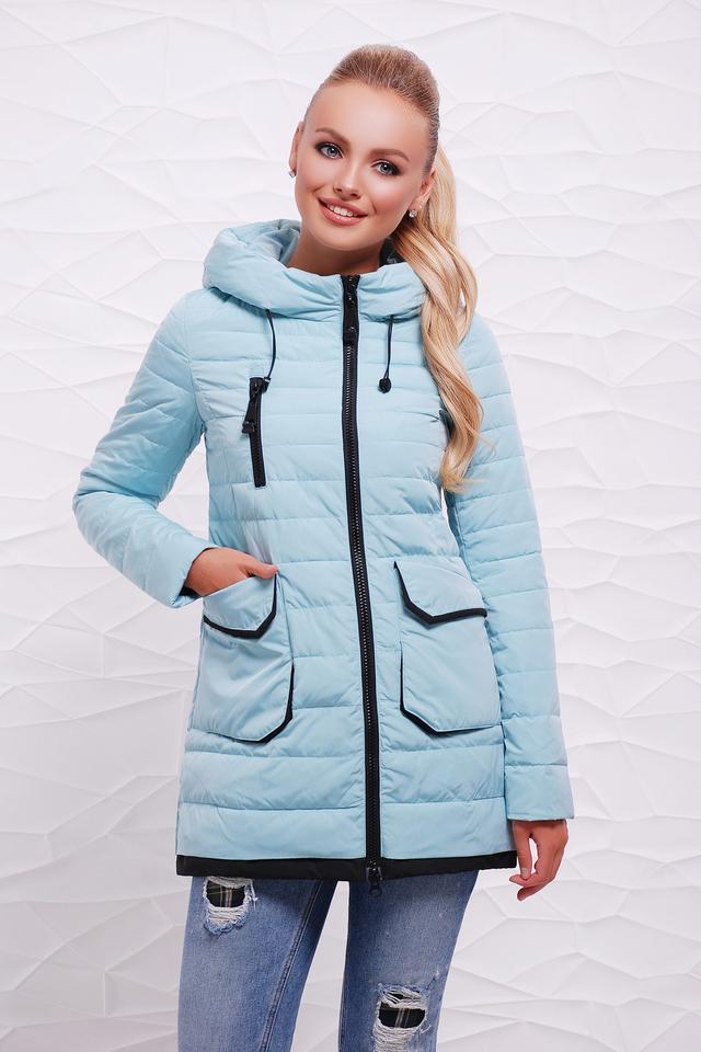 85628c1521ef Синяя Куртка женская сезон 2017-2018 демисезонная синяя холлофайбер ...