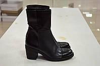 Кожаные ботинки черного цвета на каблуке Slash к.2016 40