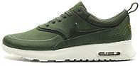 "Женские кроссовки Nike Air Max Thea Premium ""Carbon Green""  (найк аир макс) хаки"
