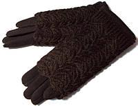 Перчатки и митенки 2 в 1 очень красивые темно коричневые
