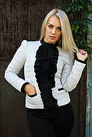 Женская демисезонная куртка Рюша (8 цветов), куртка демисезонная женская короткая