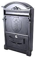 Почтовый ящик чёрный Герб Лев