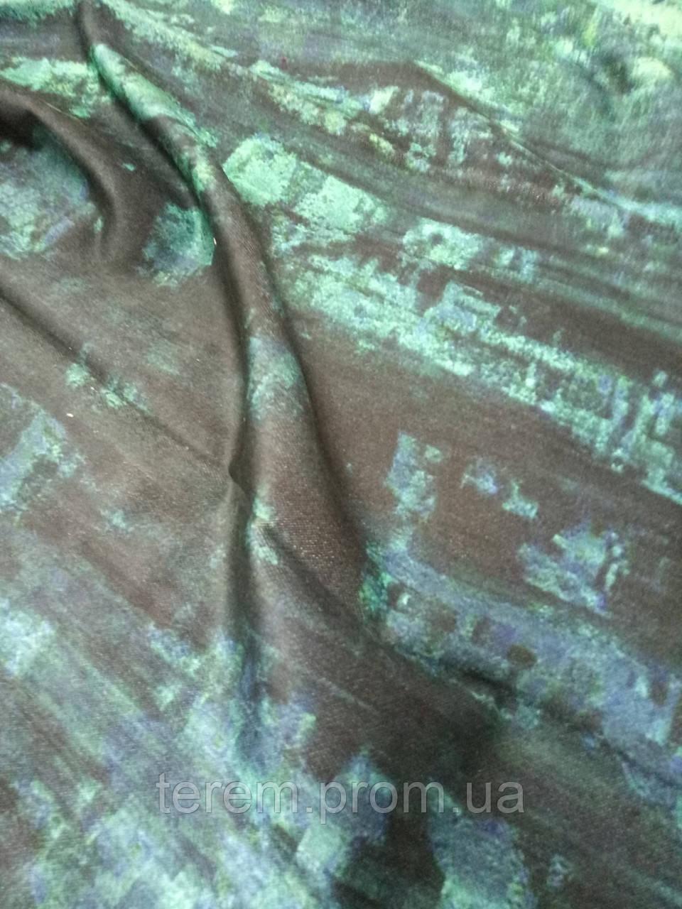 Ткань для шторы, принт на бархате абстракция, 140 см, Турция