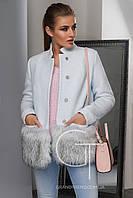 Укороченное женское зимнее пальто