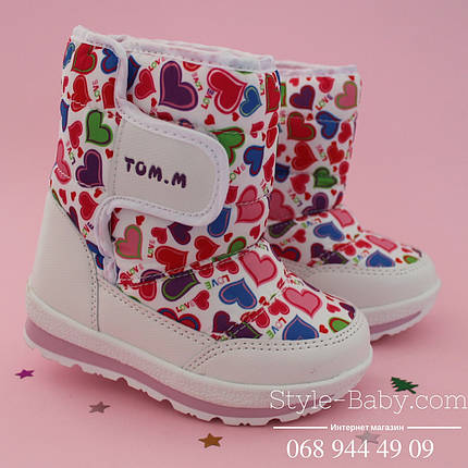 Термо сапоги дутики для девочки  розовые фирма ТОМ.М р. 27,28, фото 2