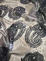 Тюль с рисунком восточного огурца, 280 см, Турция