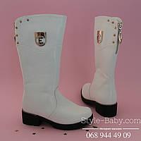 Белые зимние сапоги фирменной обуви ТомМ р. 33,34,35,37,38