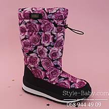 Термо-сапоги дутики Розы для девочки тм Bi&Ki р. 36, фото 3