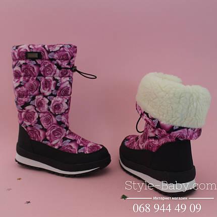 Термо-сапоги дутики Розы для девочки тм Bi&Ki р. 36, фото 2