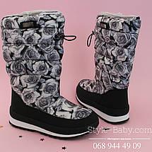 Зимние термо дутики Розы для девочек тм Bi&Ki р. 35,36, фото 2