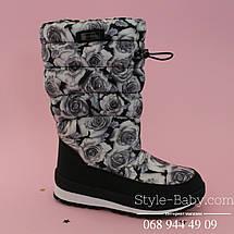 Зимние термо дутики Розы для девочек тм Bi&Ki р. 35,36, фото 3