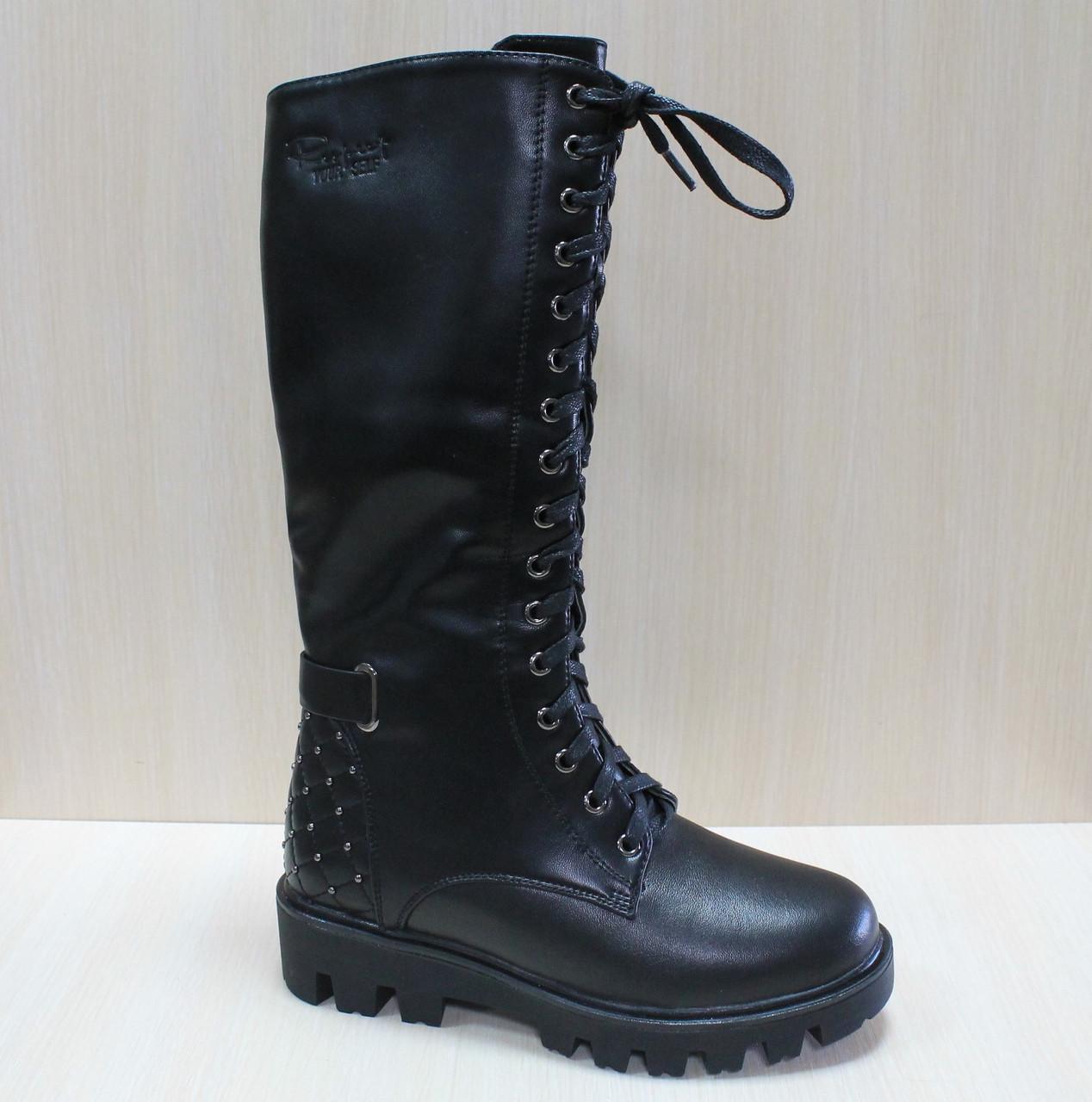 b128b4631 Зимние кожаные высокие ботинки на меху на девочку тм Том.м р.36 ...