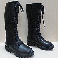 Зимние кожаные высокие ботинки на меху на девочку тм Том.м р.36,38