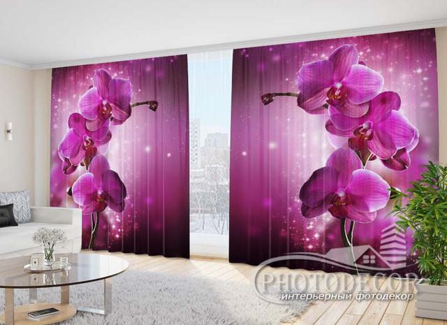 Фото шторы с Цветами 2,70м*3,50м (карниз 3,50м)