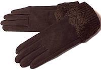 Перчатки на меху с манжетом сенсорные