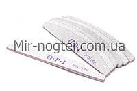 Пилка для ногтей OPI 100/150 полукруг, серая (размер в ассортименте)