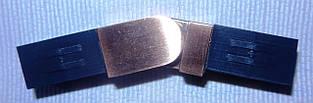 Соединитель угловой квадро, медь античная