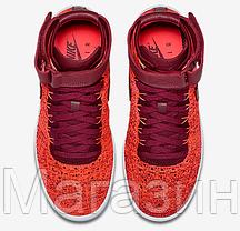 Женские высокие кроссовки Nike Air Force высокие Найк Аир Форс красные, фото 2