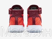 Женские высокие кроссовки Nike Air Force высокие Найк Аир Форс красные, фото 3