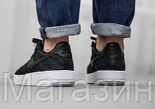 4365063a Женские кроссовки Nike Air Force 1 Ultra Flyknit низкие Найк Аир Форс черные,  фото 2