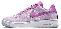 Женские кроссовки Nike Air Force 1 Ultra Flyknit Найк Аир Форс низкие фиолетовые