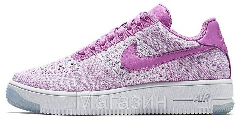 b9f569e8 Женские кроссовки Nike Air Force 1 Ultra Flyknit Найк Аир Форс низкие  фиолетовые - Магазин обуви