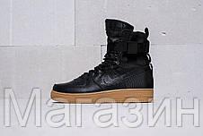 Женские высокие кроссовки Женские кроссовки Nike Special Field Air Force 1 Найк Аир Форс черные, фото 3