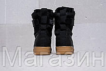 Женские высокие кроссовки Женские кроссовки Nike Special Field Air Force 1 Найк Аир Форс черные, фото 2