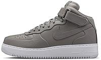 Женские высокие кроссовки NikeLab Air Force 1 Mid, Найк Аир Форс серые