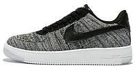 Женские кроссовки Nike Air Force 1 Ultra Flyknit Найк Аир Форс Низкие серые