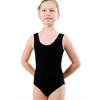 Купальник гимнастический, майка, хлопок р. 46