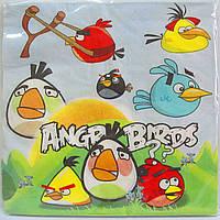 Салфетки сервировочные для детского праздника Angry Birds
