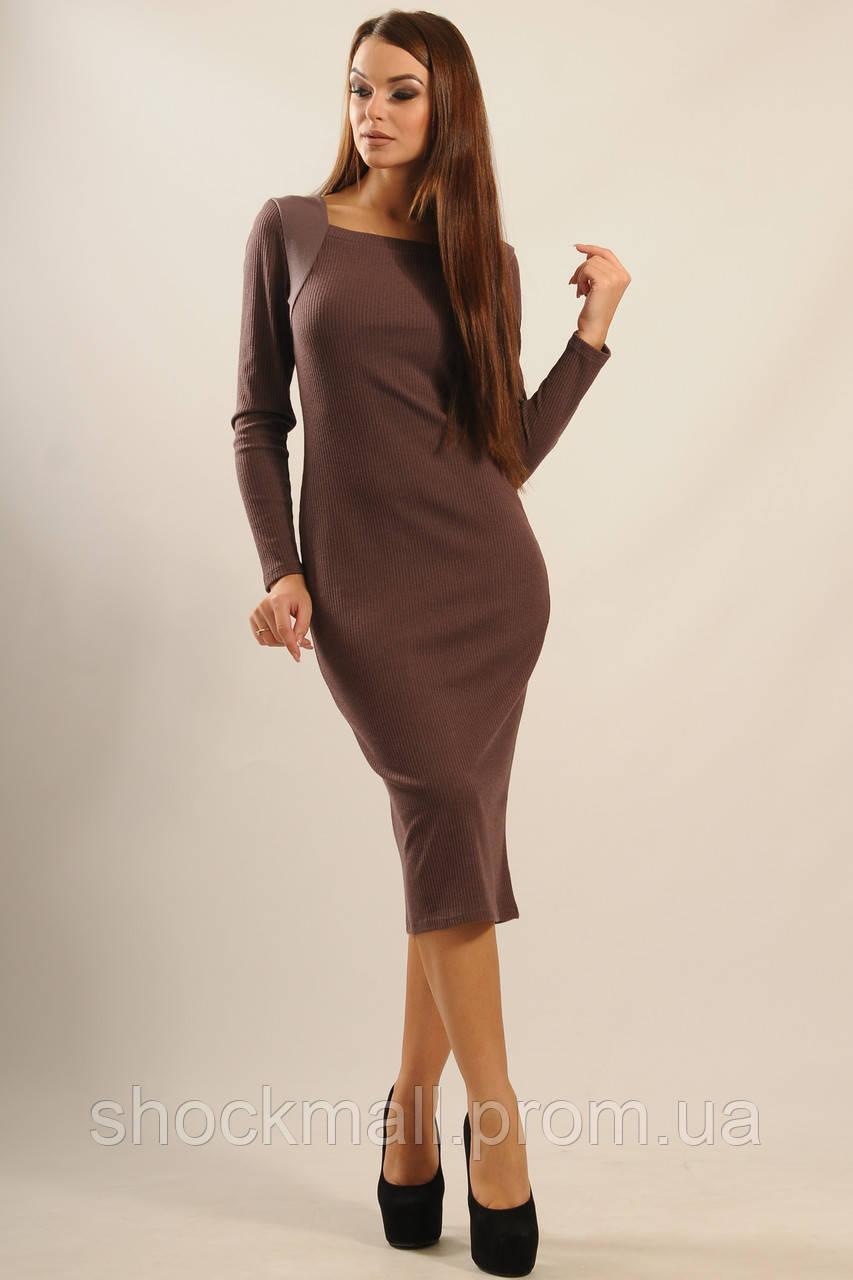 1d6156b926e Платье миди с длинным рукавом